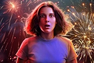 "Millie Bobby Brown in ihrer Paraderolle als Eleven auf dem Teaser-Artwork zur 3. ""Stranger Things""-Staffel"