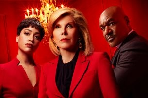 "Wer ist in ""The Good Fight""- Staffel 4 der Boss? Lucca (Cush Jumbo), Diane (Christine Baranski, M.) und Adrian (Delroy Lindo)."